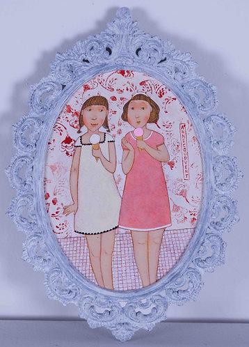 """""""Vanille fraise""""- 17x12 cm"""