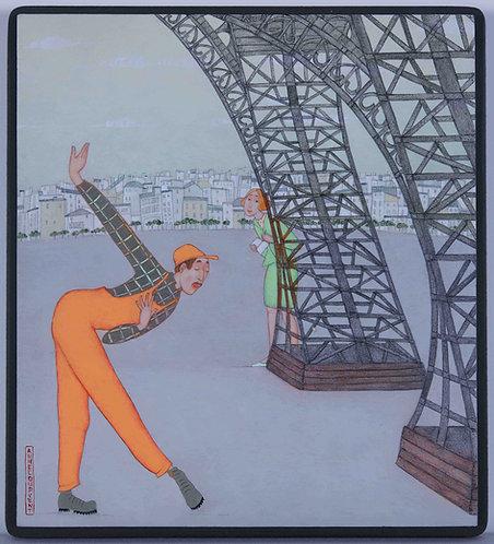 """La révérence"" - 21x19 cm"