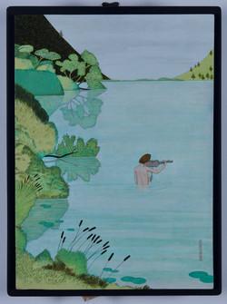 Dans le lac aux eaux vertes
