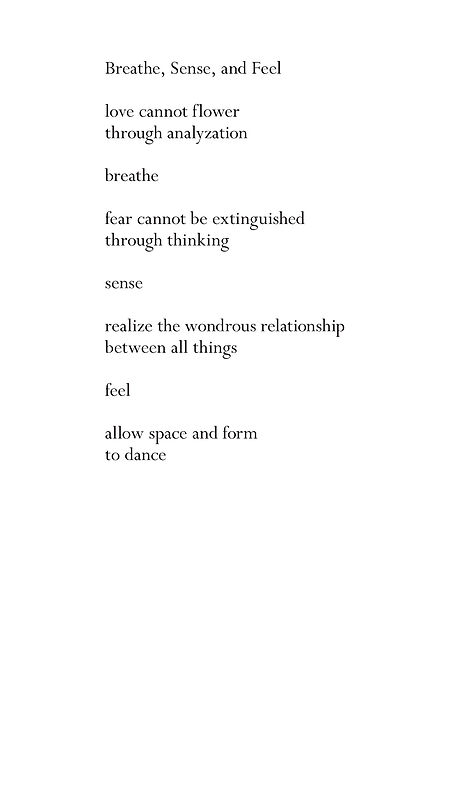 Breathe, Sense, and Feel