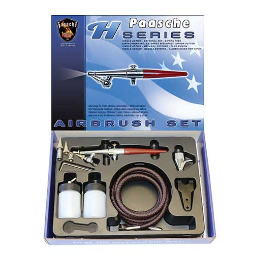 Paasche HS-202S Series Single Action Airbrush Set