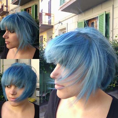 🔝🔝💙 #bluehair #blu #crazy #crazycolor