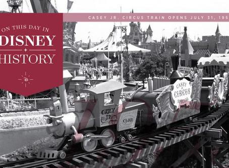 Today in Disney History: Casey Jr. Circus Train Opens in Disneyland Park, 1955