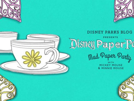 Twirl and Spin Aboard a Disney Paper Parks Mad Tea Party, Designed by Walt Disney Imagineering