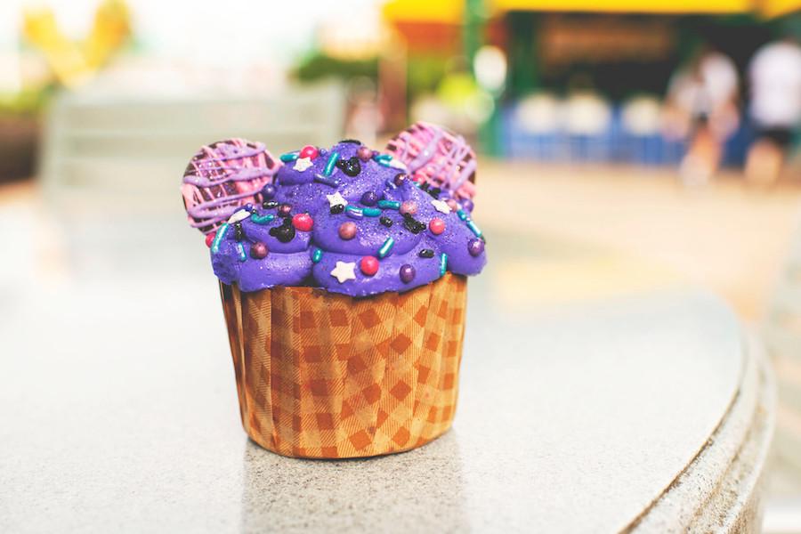 Purple Galaxy Cupcake