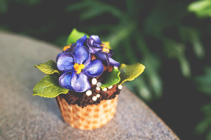 African Violet Cupcake