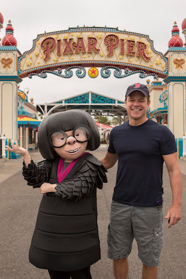 Matt Damon and Edna Mode