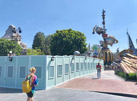 """Tomorrowland """"French Fry"""" Entrance Rocks Currently Undergoing Removal at Disneyland Park"""