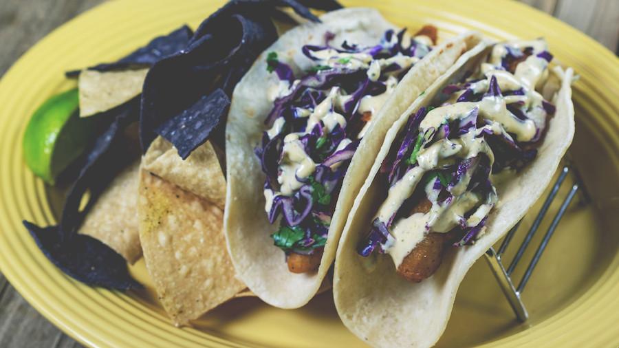 Purple Fish Tacos