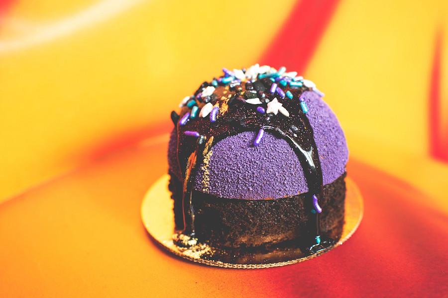 Purple Starry Sky Cake