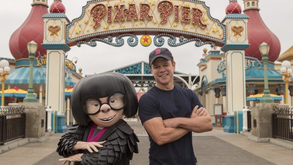 Edna Mode and Matt Damon