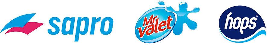 Sapro mr valet and hops logos