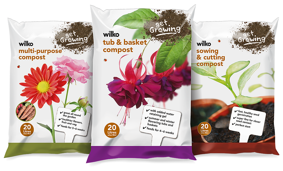Wilko get growing compost packaging range