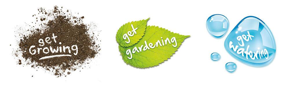 Wilko Garden range sub brand identity logos