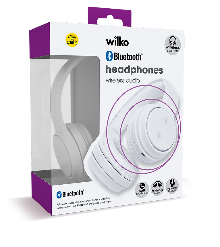 wilko bluetooth adult headphone packaging