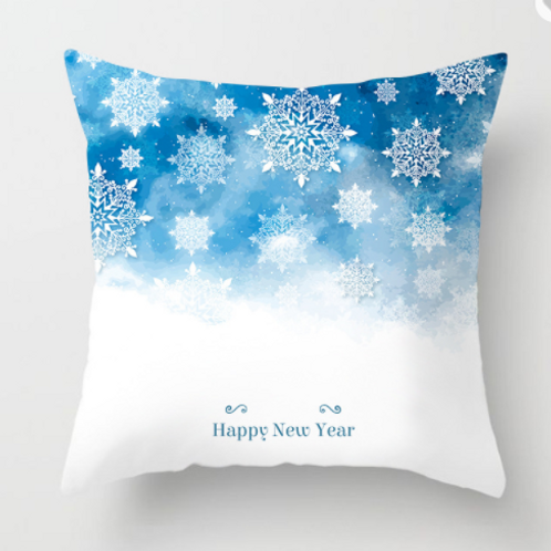 Christmas Pillow Cover 17x17,Square Christmas Decorative Cotton