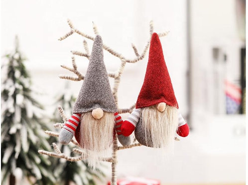 Swedish Gnome Santa Plush, Handmade Santa Doll