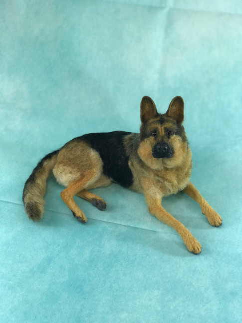 Needle felted gsd
