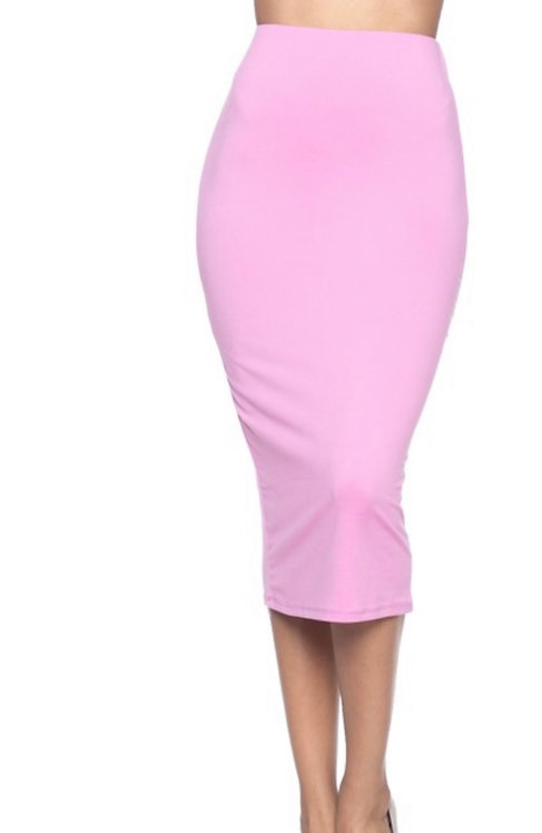 Essential midi skirt (PINK)