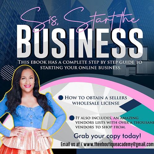 ( Ebook) Sis, Start the business