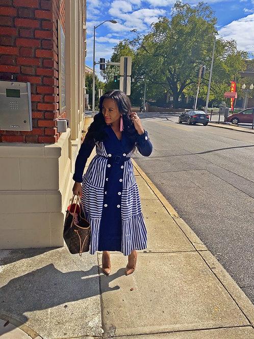 """Boss Babe"" trench dress"