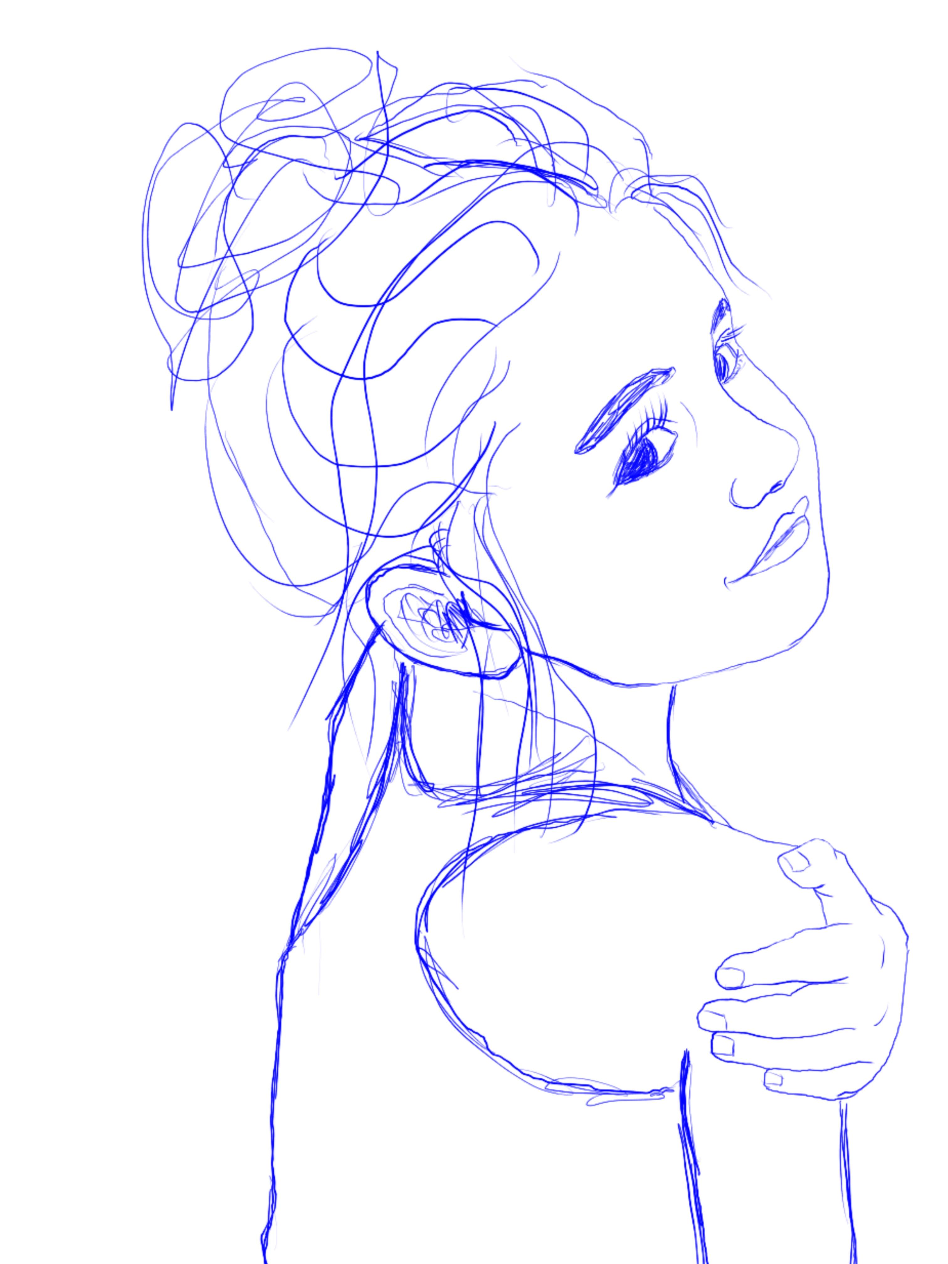 Adeline Line Drawing