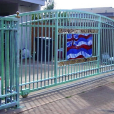 Automated galvanized driveway gate