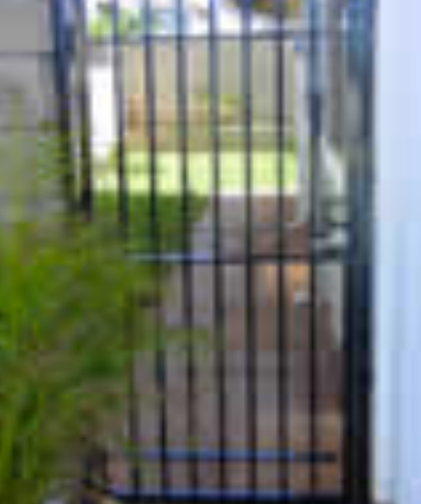Galvanized walkway gate