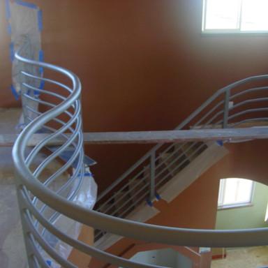 Galvanized railings