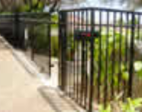 Automated galvanized driveway gate and fencing