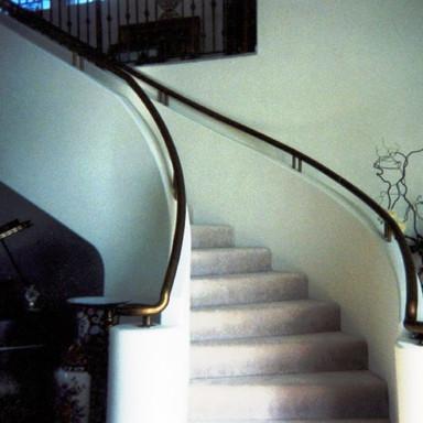 Galvanized hand rails