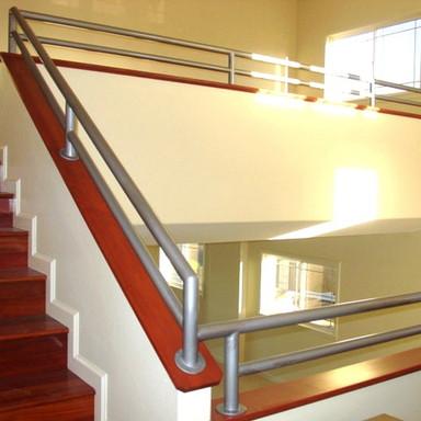 Galvanized pipe railings