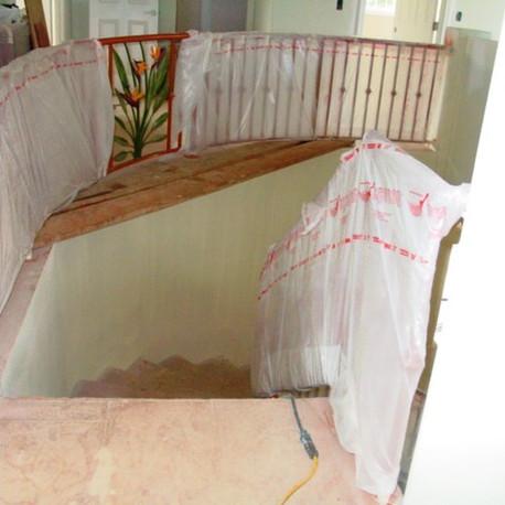 Aluminum railings with artwork