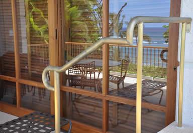 Brass railings