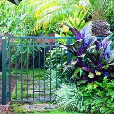 Galvanized garden gate