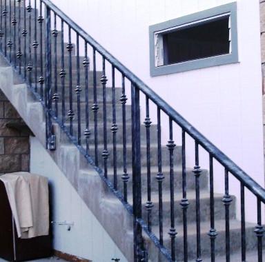 Galvanized railing
