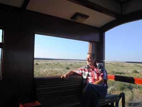 Scrabbelen op de Rovos trein
