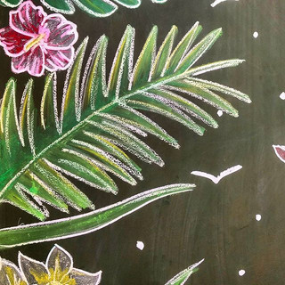 Lousa 🌿💚 #lousa #quadronegro #chalckboard #chalk #giz