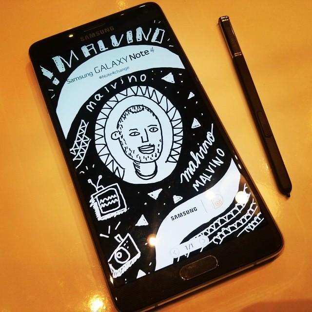 Yei Malvino, eu te desenhei na ação da Samsung Galaxy Note 4! Mas não foi só ele, depois eu mostro t