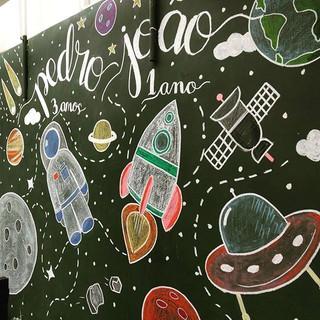 #lousa #chalkboard #kidsparty _arte baseada em ilustração enviada pelo cliente_