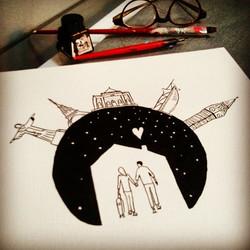 Ilustração em nanquim