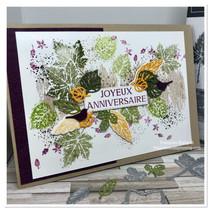 une carte anniversaire aux couleurs d'automne avec Stampin'up!