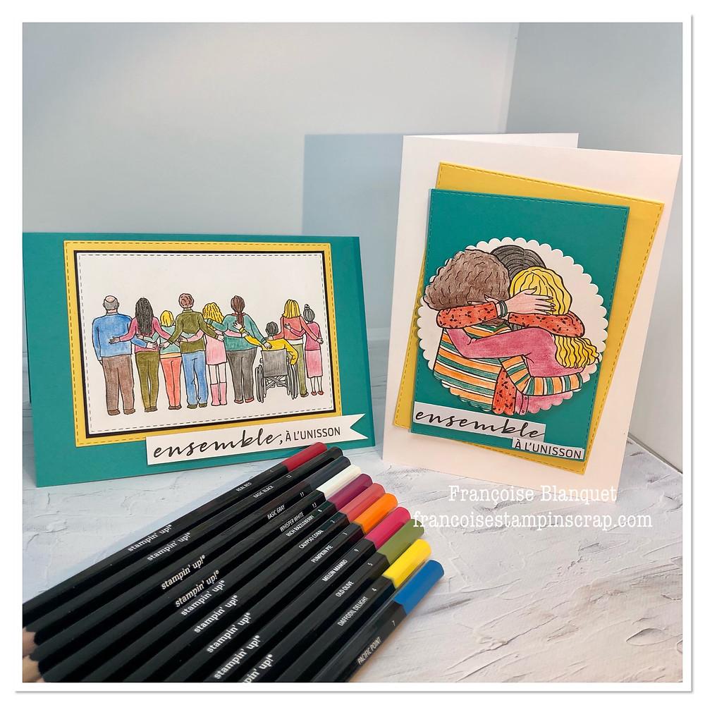 images Stampin'Up! télechargeables gratuites sur demande décorées avec des crayons aquarelles