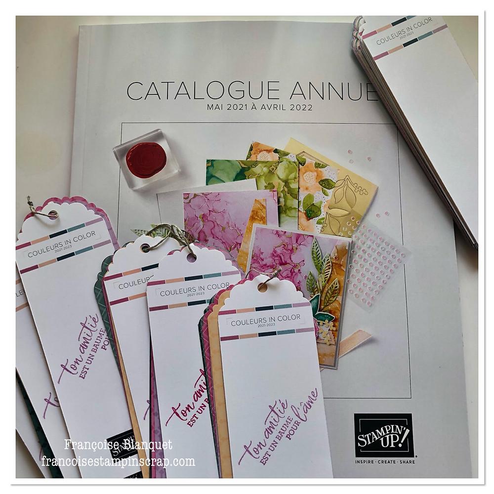 Cadeaux : un catalogue annuel 2021-2022 Stampin'up!  plus un Color coach sous la forme de Marque-pages offert lors de mes portes ouvertes dans l'oise