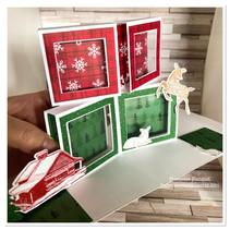 Carte Pop Up  atelier  Scrapbooking  stampin'up! en septembre dans l'oise chez Françoise