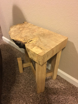 Live Edge End Table