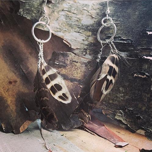 Wild Feminine Quail Feather Earrings