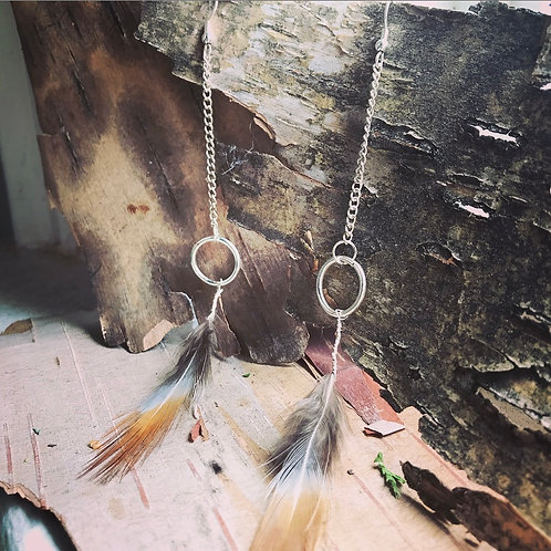 Wild Feminine Pheasant Feather Earrings