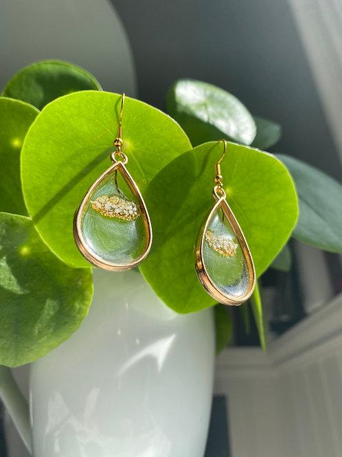 Golden Goddess Yarrow Flower Earrings