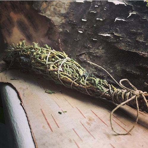 Cleansing Cedar & Mugwort Wands